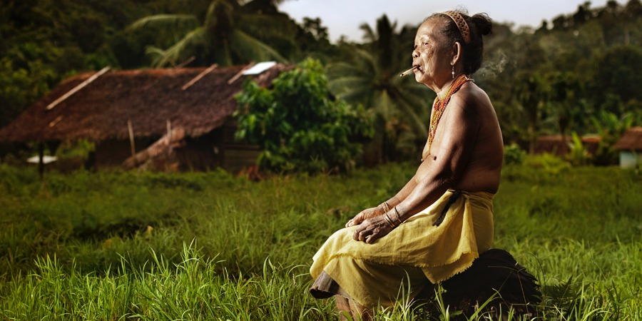 Mentawai woman sitting