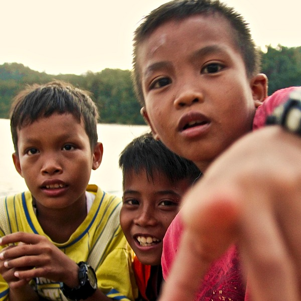 Children from Nagari Sungai Pinang
